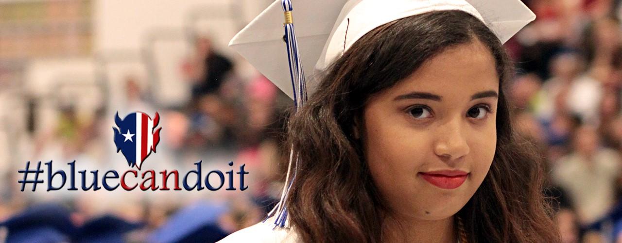 girl grin graduate