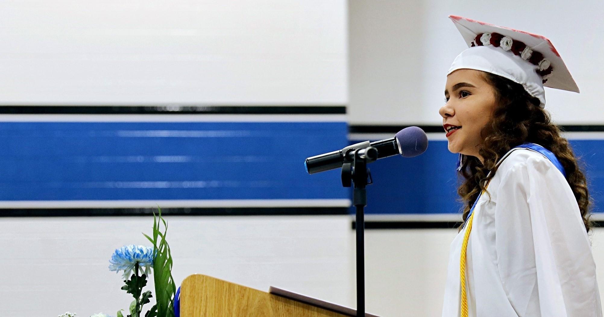 girl grad speaker