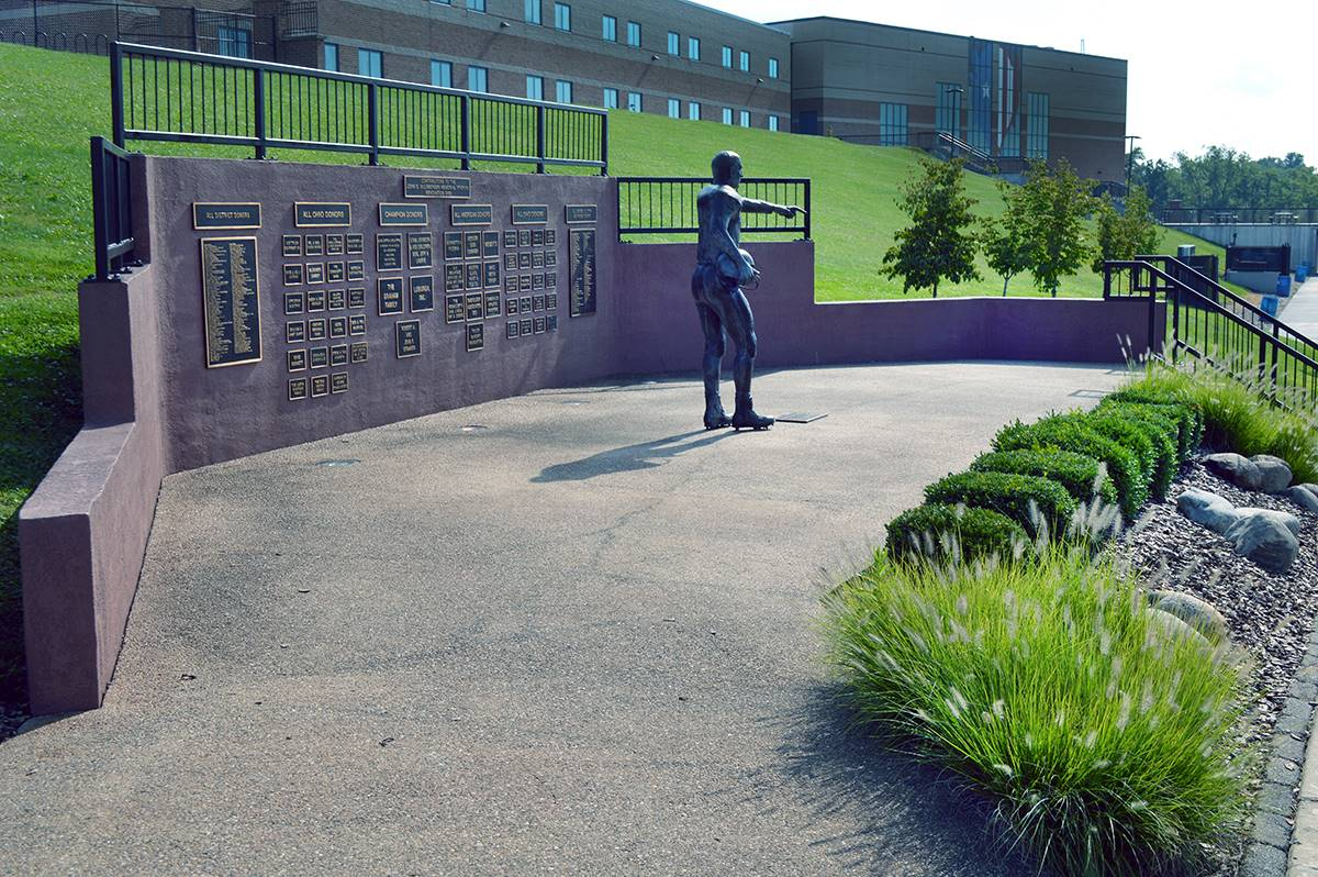 Sulsberger Statue plaza view